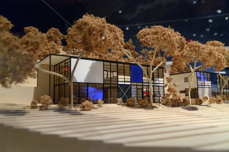 Case Study House No 8 scale model designed by Charles and Ray Eames