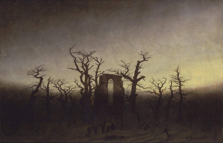 Caspar David Friedrich - Abtei im Eichwald - Image via wikimediaorg