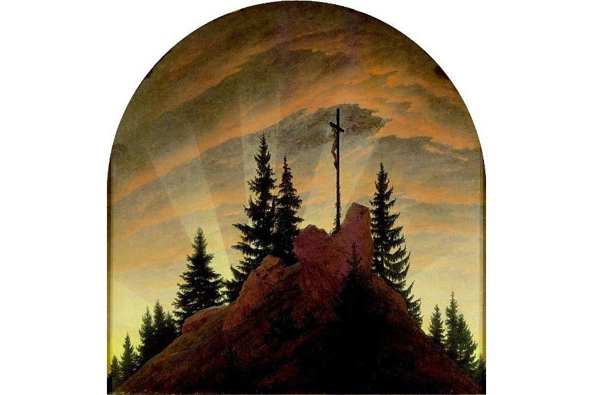 Why were caspar david friedrich's paintings popular in nineteenth-century germany