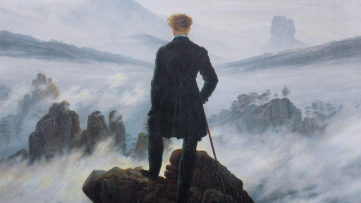 Caspar David Friedrich - Wanderer Above the Sea of Fog, circa 1817, detail