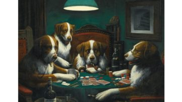Cassius Marcellus Coolidge, Dogs Playing Poker, 1894