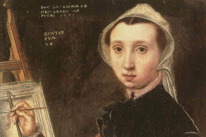 Caterina van Hemessen - Self portrait (detail), 1548; new research on her art and other women artists has been recently published