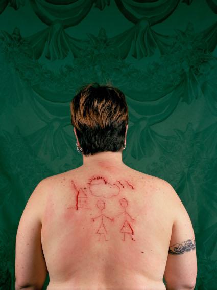 Catherine Opie - Self-Portrait - Cutting, 1993