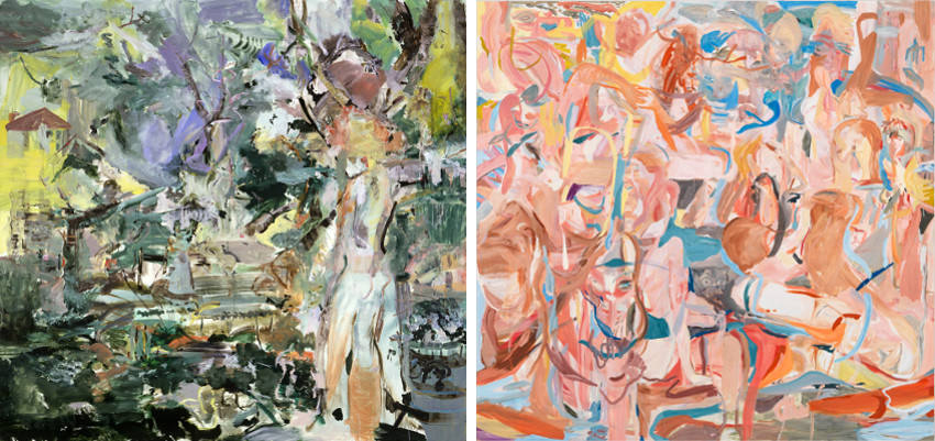 Cecily Brown had exhibitions in museum and a gallery arts representation, which press covered in 2014