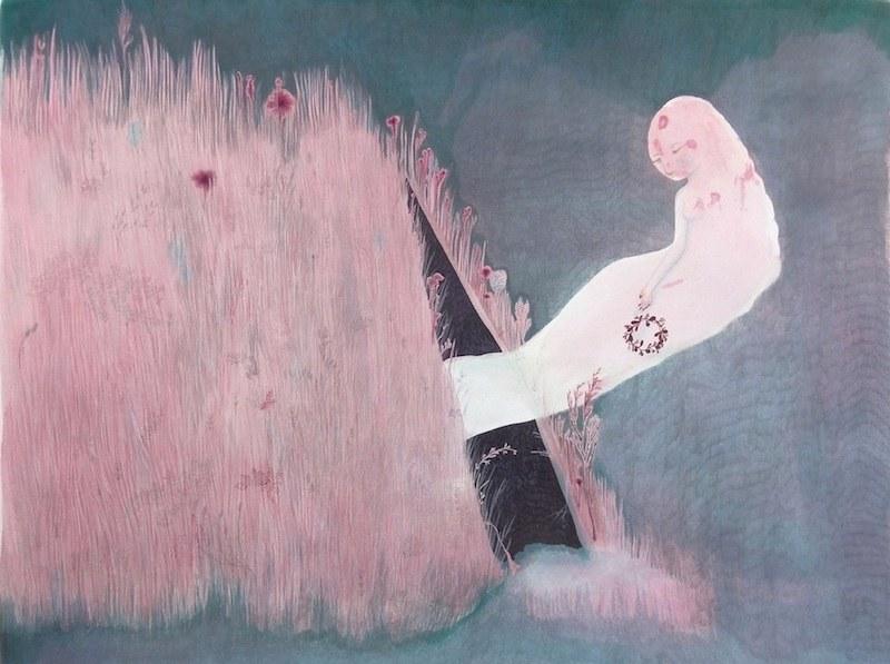 Cendrine Rovini - Morsure de l'herbe adieux a une couronne, 2012