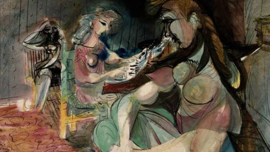 Ceri Richards - Interior with Figures and Piano (detail) - 1946