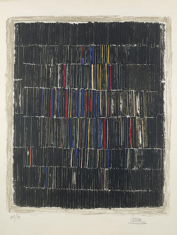 Raoul Ubac-Camille Bryen-Cesar-Cesar (Baldaccini), Raoul Ubac, Camille Bryen - Three Continental Prints (Untitled)-1958