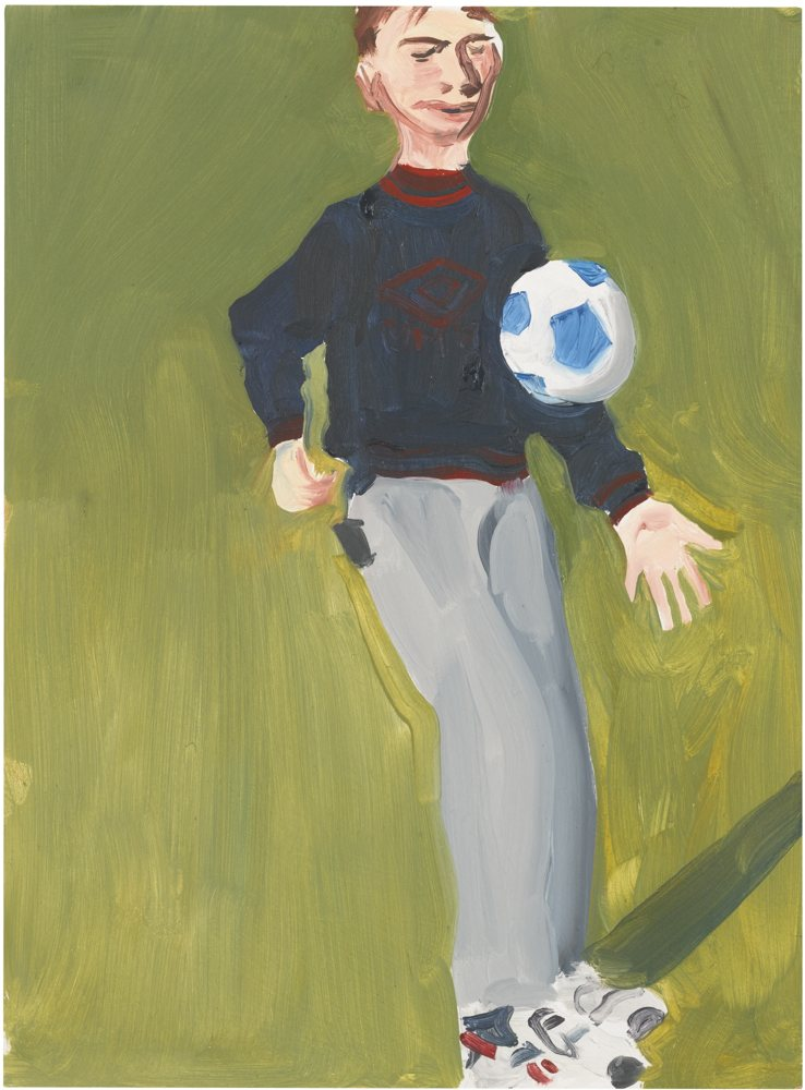 Chantal Joffe-Boy With Football-1996