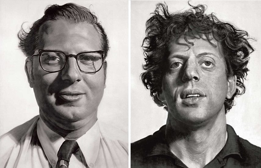Charles Close - Joe Policy, 1969 (Left) --- Phil Privacy, 1969 (Right)