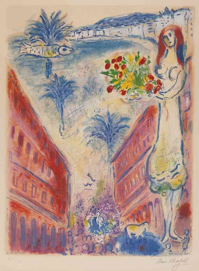 Marc Chagall-Charles Sorlier after Avenue De La Victoire At Nice-1967