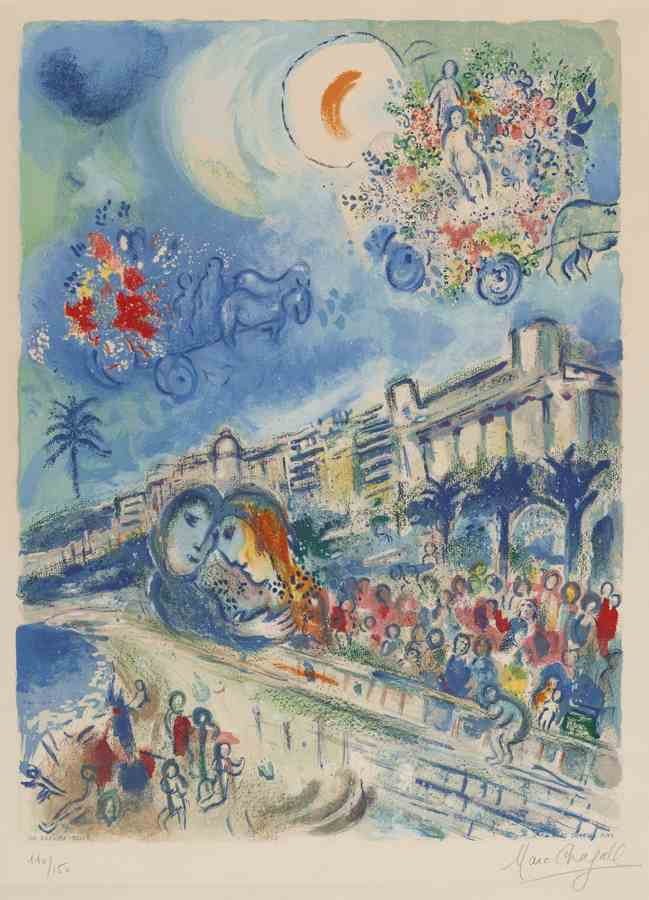 Marc Chagall-Charles Sorlier after Carnaval Of Flowers-1967