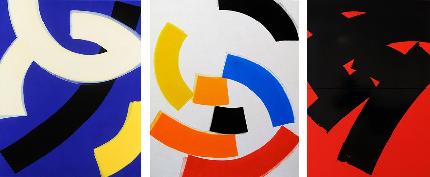 Charley Brown - Three Circles, 2013 - Eden Roc Series #2, 2012 - Diptych #1. 2013