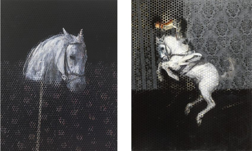 Charming Baker - But I Never Do - 2013 (Left) / Untitled (Fallen Hero) - 2014 (Right) - search