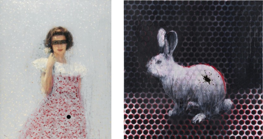 Charming Baker - Untitled (Gloria) - 2014 (Left) / Love is Never Thinking it Might End Before We Do - 2010 (Right)