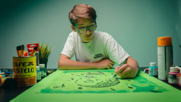 A Child Artist, image via KidsBasel