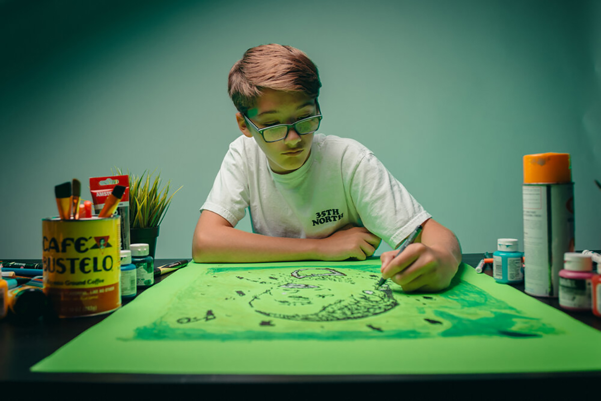 A Child Artist, image via KidsBasel