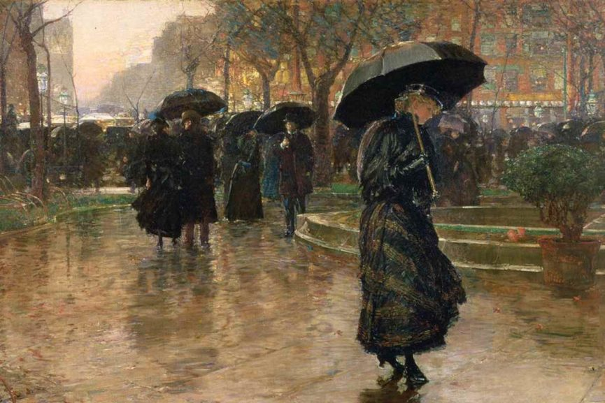Childe Hassam - Rainstorm Union Square, 1890