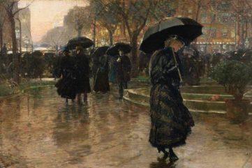 Childe Hassam - Rainstorm Union Square, 1890