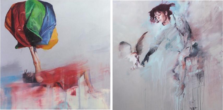 Chloe Early - Suspended 8, 2014 (Left) / Interceptor, 2014 (Right)