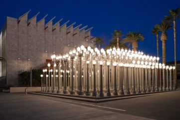 Ten Years Later, Chris Burden's Urban Light Shines On at LACMA