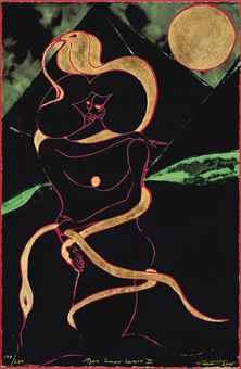 Chris Ofili-Afro Lunar Lovers II-2005