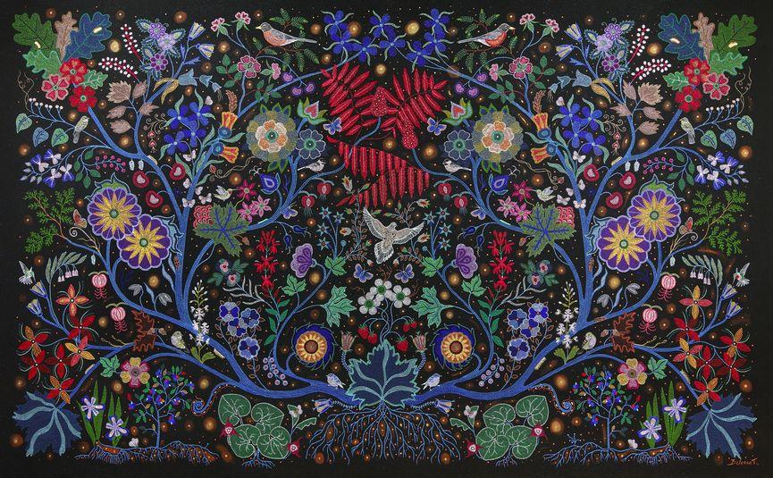 Christi Belcourt (Métis), The Wisdom of the Universe, 2014