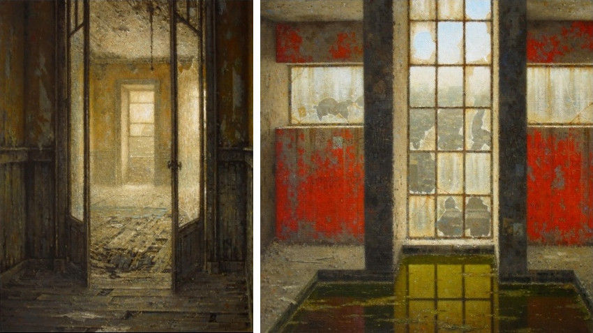 Christian Benoist - Quartier Sud, 2010 (Left) - Le Bassin Supérieur, 2014 (Right)
