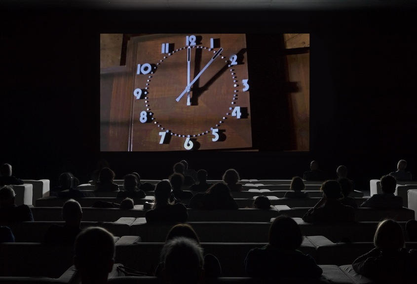 Christian Marclay - The Clock, installation view__