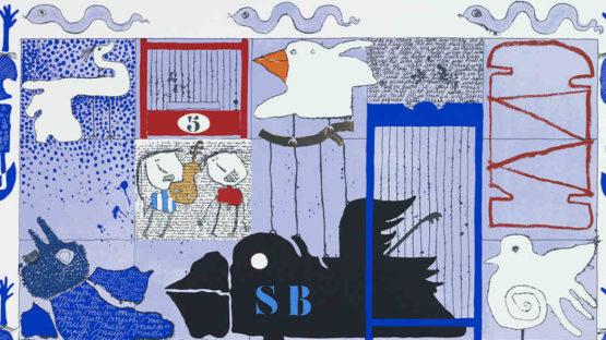 Christian Silvan - L'oiseau noir (detail), 1998, Image via gkmse