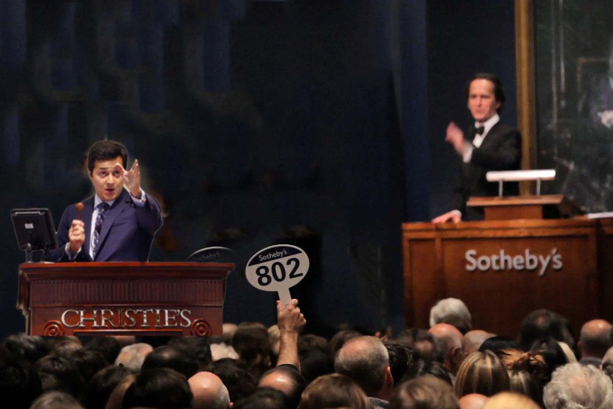 christies, sothebys, auction war