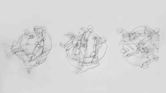 Christine Runggaldier - Grovigli, galvanized iron wire, 2015