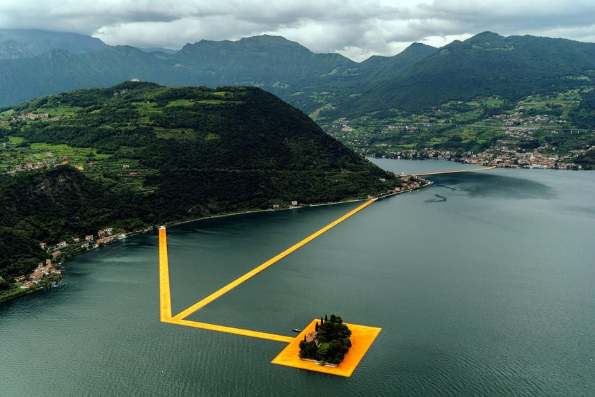 Christo - Floating Piers, 2016, via nytimes com