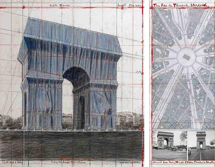 Christo & Jeanne Claude - The Arc de Triumph