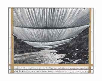 Christo and Jeanne-Claude-Over the River (Project for State of Colorado, Arkansas River)-1995