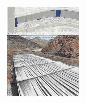 Christo and Jeanne-Claude-Over The River (Project for Arkansas River, State of Colorado) Fremont and Chaffee Counties-2008