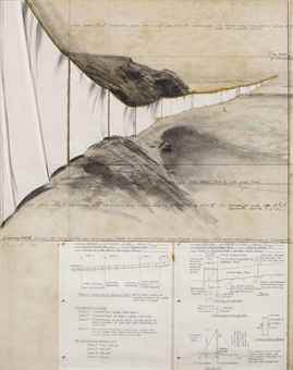 Christo and Jeanne-Claude-Running Fence (Project for Sonoma County and Marin County, State of California)-1974