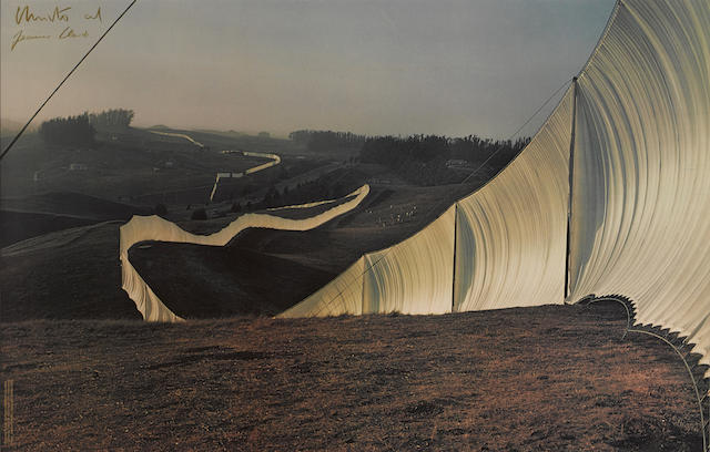 Christo and Jeanne-Claude-Running Fence Sonoma and Marin Counties California-1976