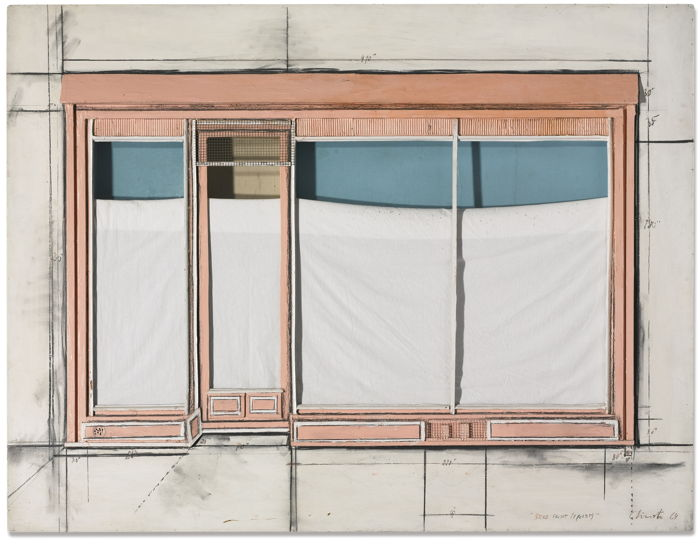 Christo and Jeanne-Claude-Store Front (Project)-1964