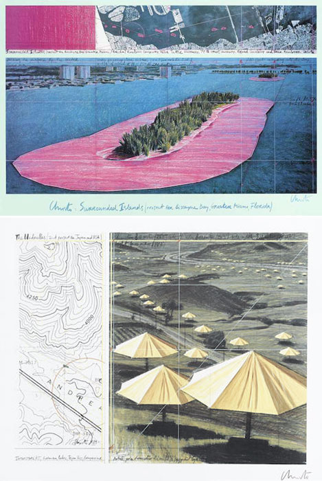 Christo and Jeanne-Claude-Surrounded Islands; Interstate #5, from Umbrellas: Joint Project for Japan and USA; Ibanaki prefecture, from Umbrellas: Joint Project for Japan and USA-1988