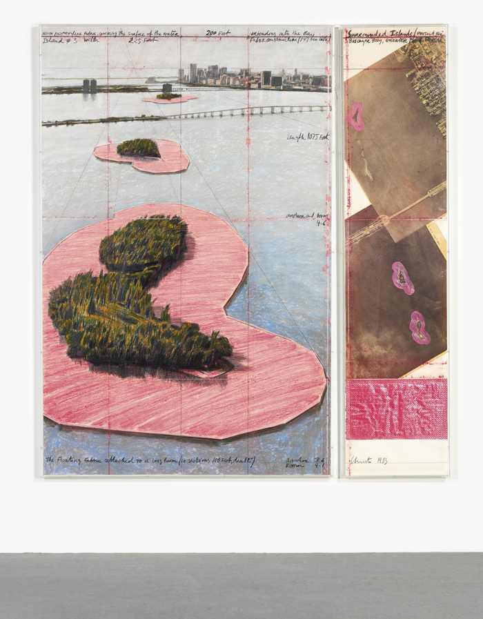 Christo and Jeanne-Claude-Surrounded Islands, Project For Biscayne Bay, Greater Miami, Florida-1983
