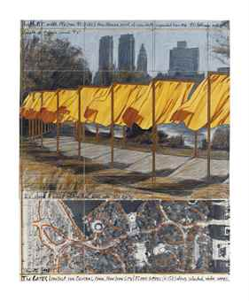 Christo and Jeanne-Claude-The Gates, Project for Central Park, New York City-1996