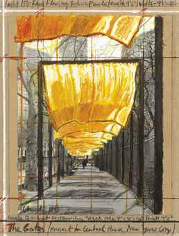 Christo and Jeanne-Claude-The Gates (Project for Central Park, New York City)-1998