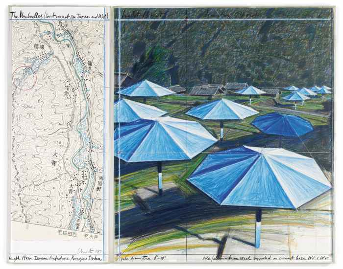 Christo and Jeanne-Claude-The Umbrellas (Joint Project For Japan And Usa)-1987