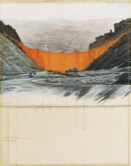 Christo and Jeanne-Claude-Valley Curtain (Project For Colorado)-1971