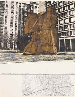 Christo and Jeanne-Claude-Wrapped Sylvette, Project for Washington Square Village, New York, from Hommage a Picasso-1972