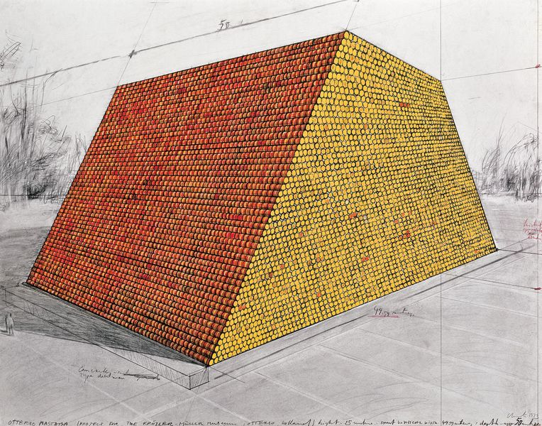 Houston Mastaba; one of the early works that were on view close to Houston