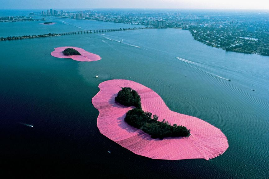 Surrounded Islands, Biscayne Bay, Greater Miami, Florida, 1980-83; all of their installations were outside of the museums