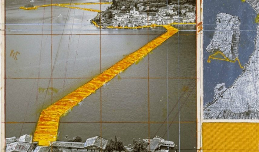 The Floating Piers piers floating 2016 lake iseo fabric sulzano italy june island isola monte yellow wolfgang floating piers lake iseo fabric italy