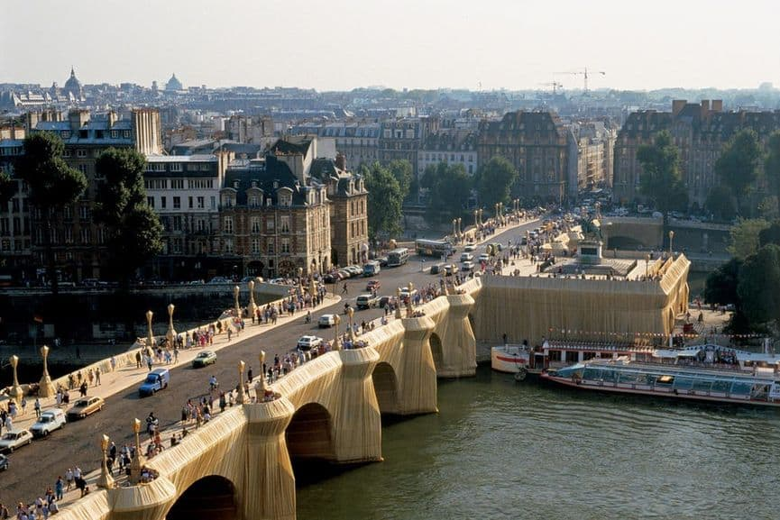 The Pont Neuf Wrapped, Paris, 1975-85; the wrapping project on the river