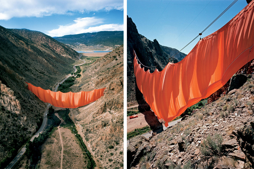 Christo and Jeanne-Claude Valley Curtain, Rifle, Colorado, 1970-72 Photos by Shunk-Kender and Wolfgang Volz © 1972 Christo